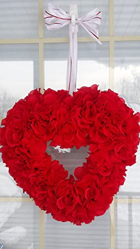 Amazon Com Red Rose Valentines Day Heart Wreath Red Rose Heart