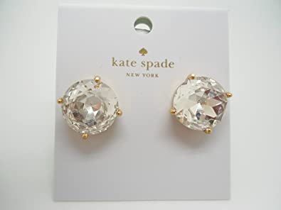23ebce8a0 Amazon.com: Kate Spade Crystal Round Large Gold Stud Earring: Jewelry