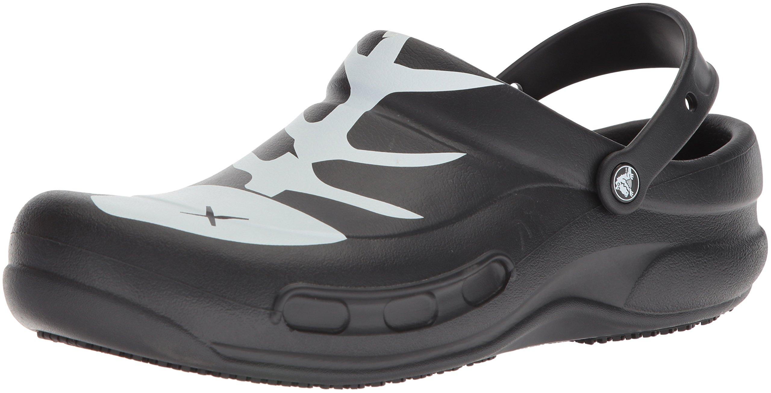 Crocs Unisex Bistro Graphic Clog,Black/White/Black,9 US Men / 11 US Women
