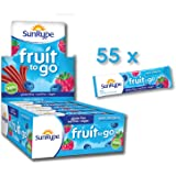 SunRype Apple Wildberry Fruit to Go 100% Fruit Strip Snacks - Nut-Free (Case of 55)