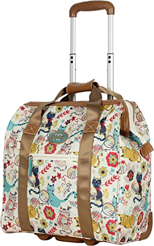 Lily Bloom Design Pattern Carry on Bag Wheeled Cabin Tote Furry Friend
