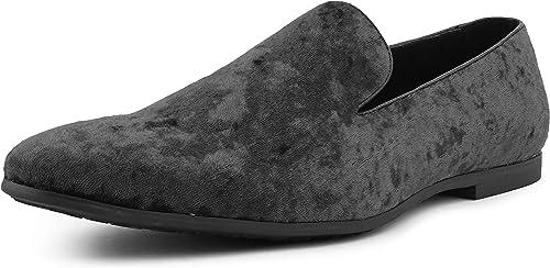 Amali Hauser Men's Slippers Mens Loafers Designer Shoes for Men Crushed Velvet, Luxurious, Mens Slip On Shoes Mens Casual Shoes Tuxedo