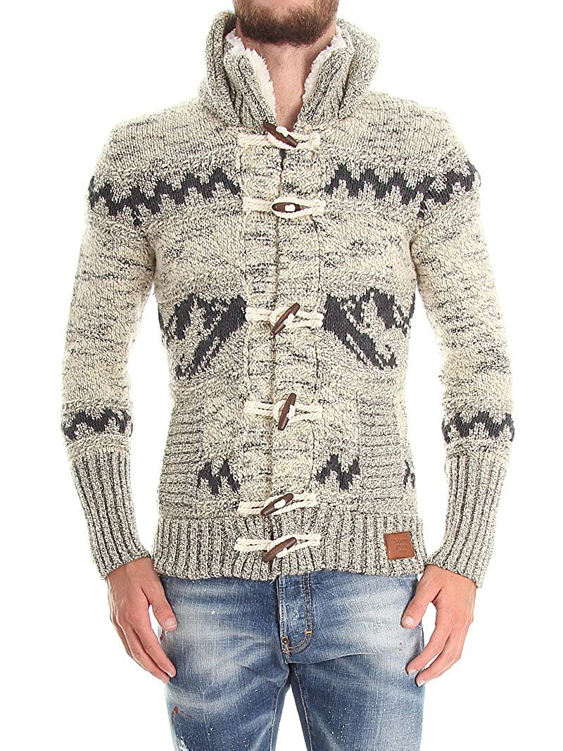 Superdry Men's Big Zip Mountain Knit Hooded Sweater Jacket at ...
