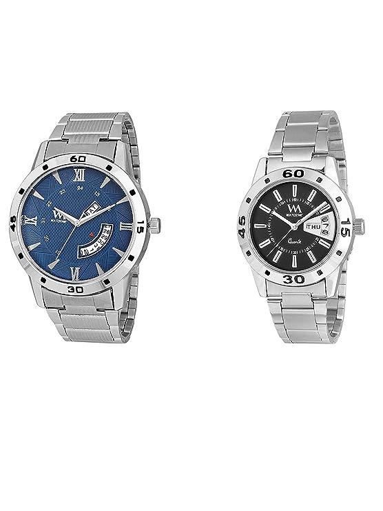 Watch Me Stylish Wrist Watch GIF Set Combo for Couple Men and Women DDWM-009-BK-DDWM-041 Watch for Mens Under 500 ; Watches for Mens Stylish ; Watch for Men Stylish Latest