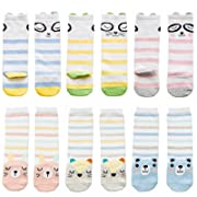 EIAY Shop Newborn Baby Infant & Toddler Cotton Socks Knee High Stockings Cute 6 Pack