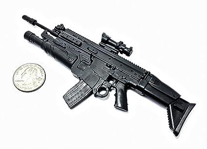 amazon com 1 6 scale fn scar assault rifle us army fn herstal gun