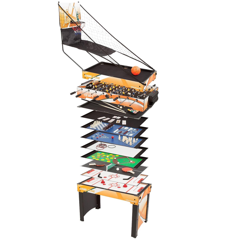 Ultrasport Spieltisch 15-in-1 Game Zone, Tischgröße 107 x 61 x 80 cm