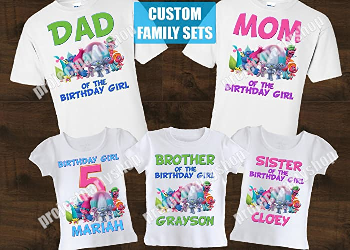 Trolls Mommy Shirt Daddy Family Shirts