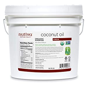 Nutiva Organic Cold-Pressed Virgin Coconut Oil, 1 Gallon