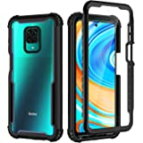 seacosmo Xiaomi Redmi Note 9 Pro Case, Redmi Note 9s Case, Full Body Shockproof Cover [with Built-in Screen Protector] Slim F