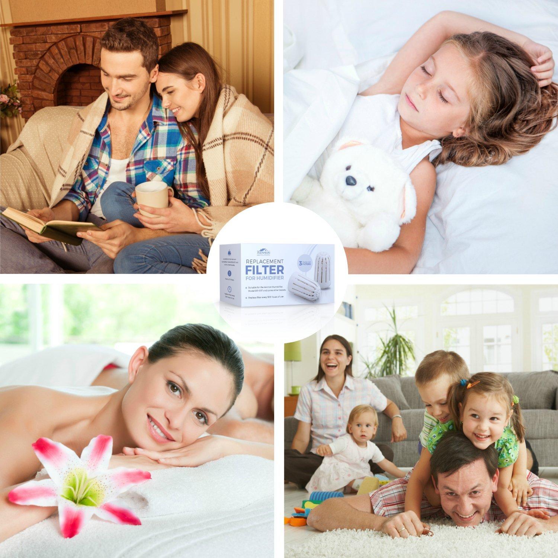 7 luces LED de colores dormitorio personal Humidificador de vapor fr/ío los humidificadores traen 3/filtros adicionales y m/ás toda la casa humidificador para el hogar beb/é humidificador ultras/ónico