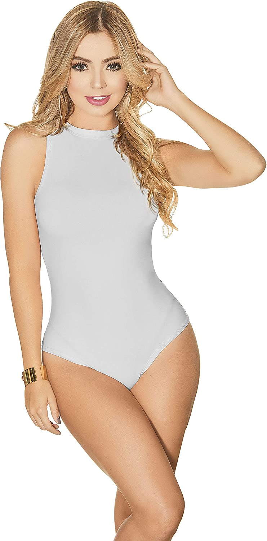 Faja Mia TyH Damen /ärmellos Monck Neck Mid Compression Kolumbianische Bodysuits