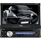 BOSS AUDIO BV9982I Single-DIN 7 inch Motorized Touchscreen DVD Player Receiver, Detachable Front Panel, Wireless Remote