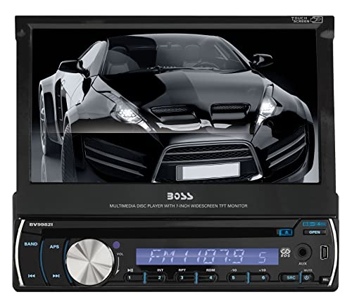 Boss Audio BV9982I Single-DIN 7 Inch Motorized Touchscreen DVD Player Receiver