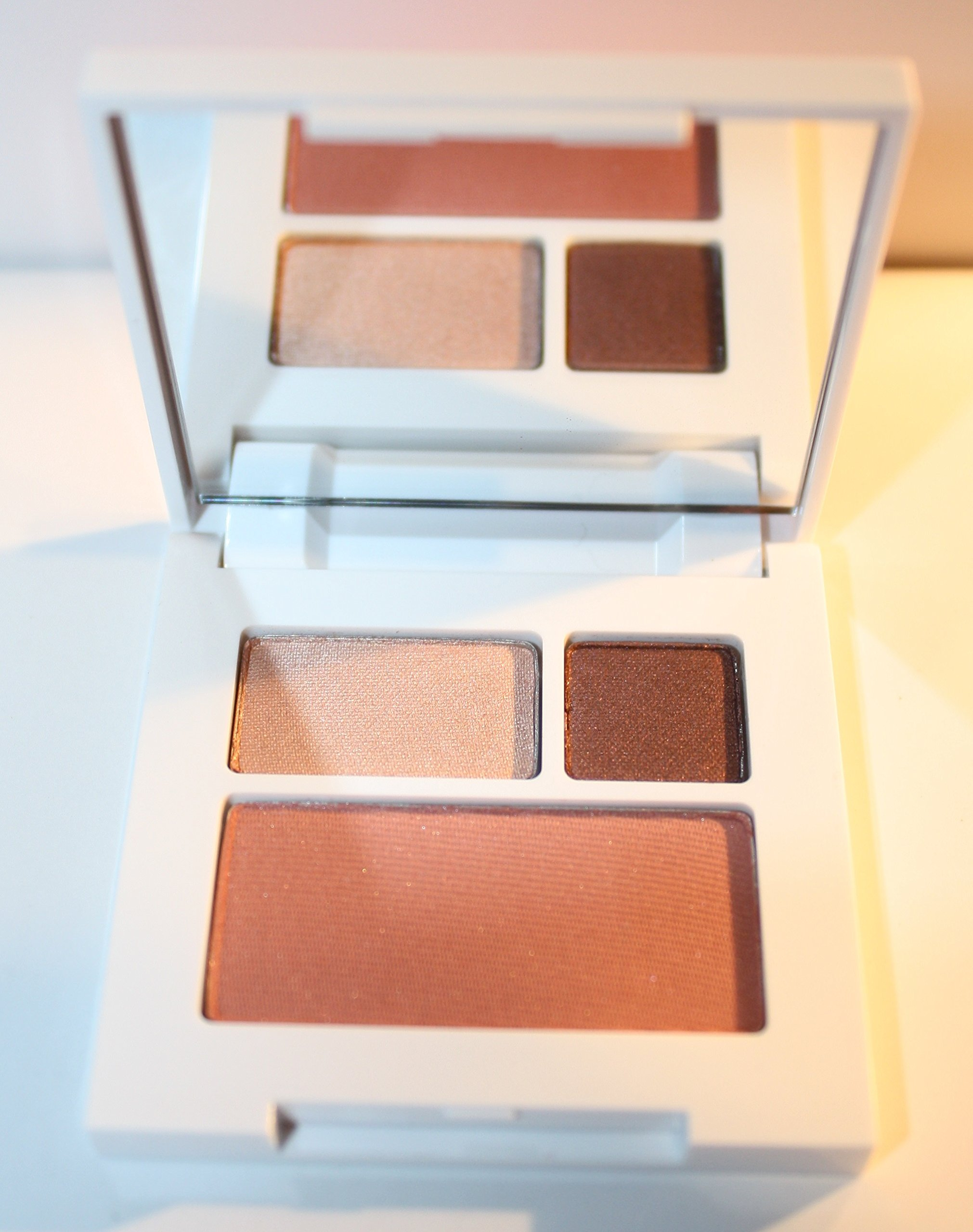 Clinique All About Shadow Duo, 02 Black Honey & 01 Sunset Glow, Soft-pressed Powder Blusher 06 Fig
