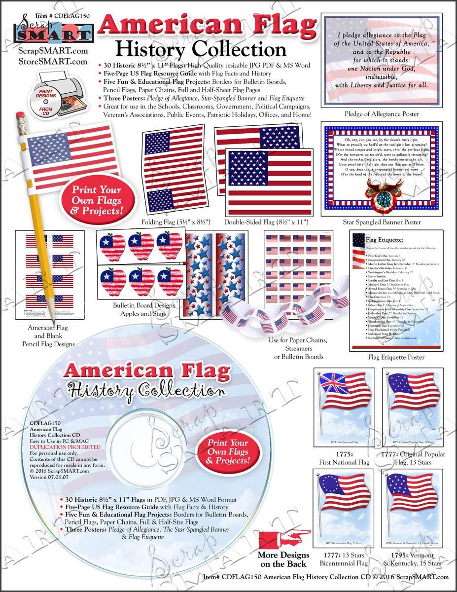 Amazon Com Scrapsmart American Flag History Collection Software