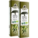 Ellora Farms, USDA Organic Extra Virgin Olive Oil, First Cold-Pressed, Unfiltered, Kosher, 17 oz. tin, Pack of 2