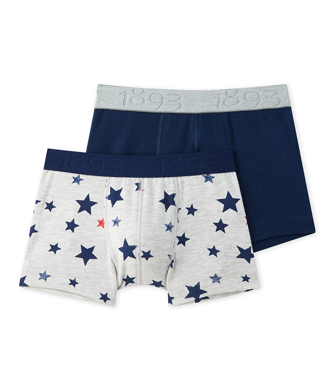 Petit Bateau 2 Pack Boys Boxers Style 26132 Sizes 2-12