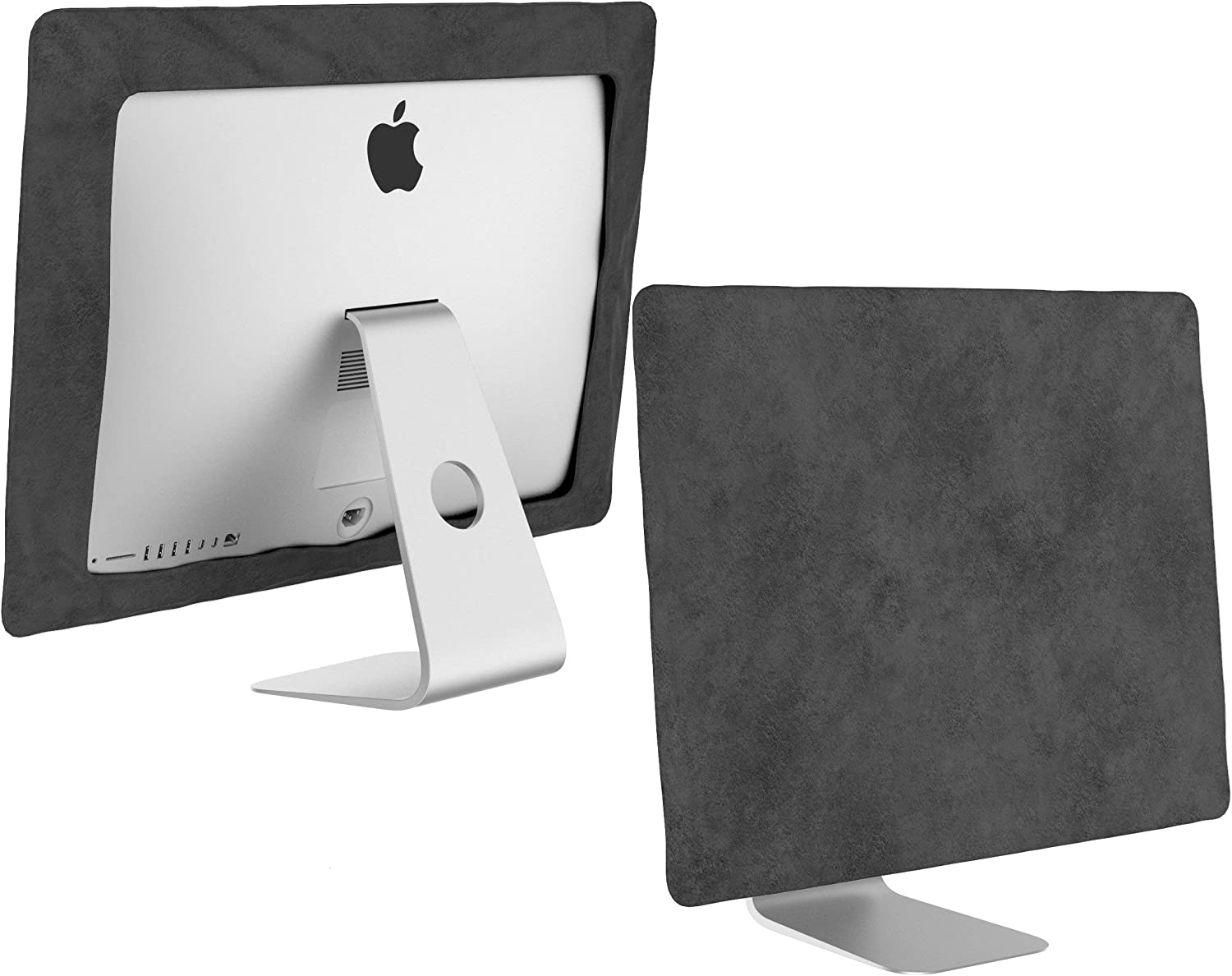 Kuzy - iMac 27 inch Monitor Cover, Apple Desktop Computer Screen Protector Sleeve Models A1862, A1419, A1312 Newest Version Retina 5K Mac Pro Protection from Dust and Fingerprints - Gray