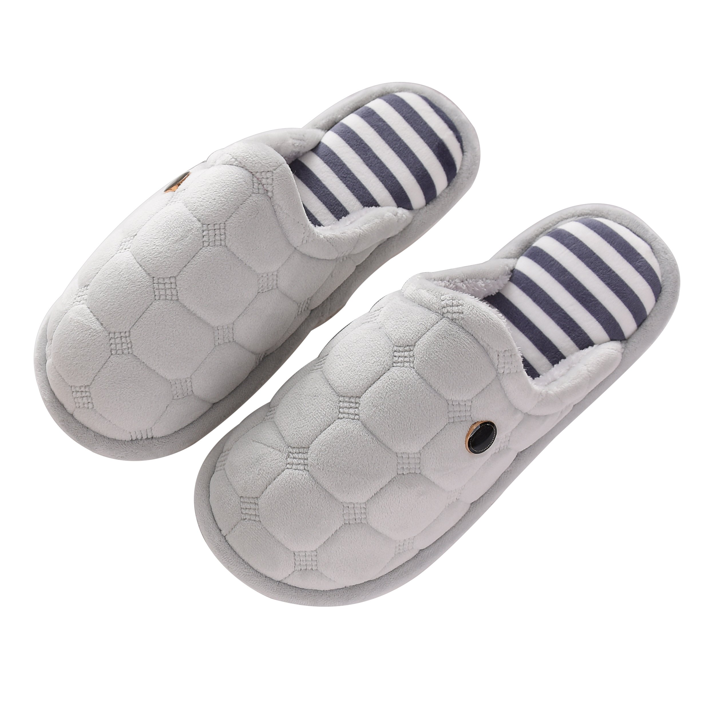 OxygenBeauty Indoor Slippers, Cotton Slippers, Winter Warm Slipper, House Slippers, Comfortable Anti-Slip Floor House Slippers for Women and Men, Winter Couples House Floor Slippers (Men43-45)
