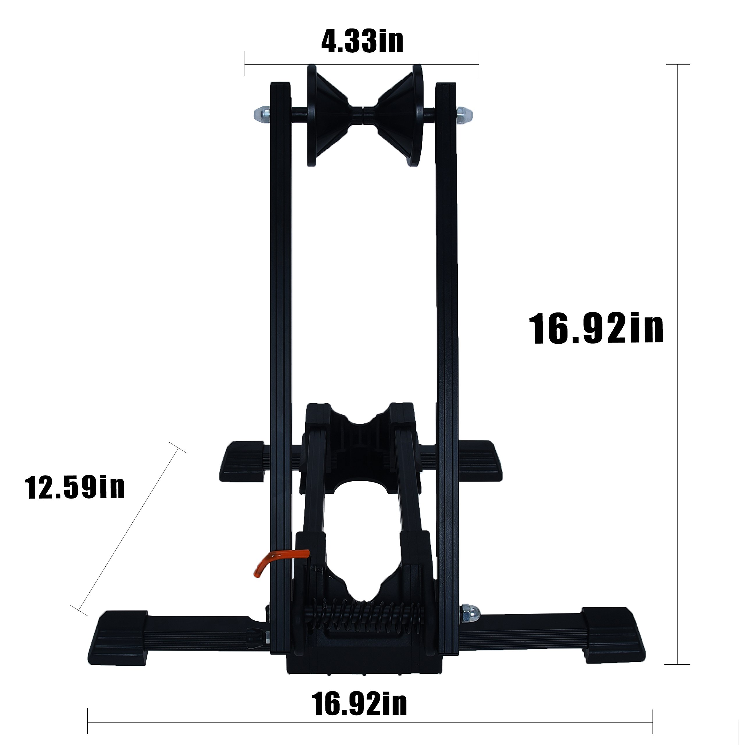 Bike Folding Stand Floor Parking Rack Alloy Bicycle Holder Bikes Home Garage Indoor Storage Fit 20''-29'' by Auwey (Image #4)
