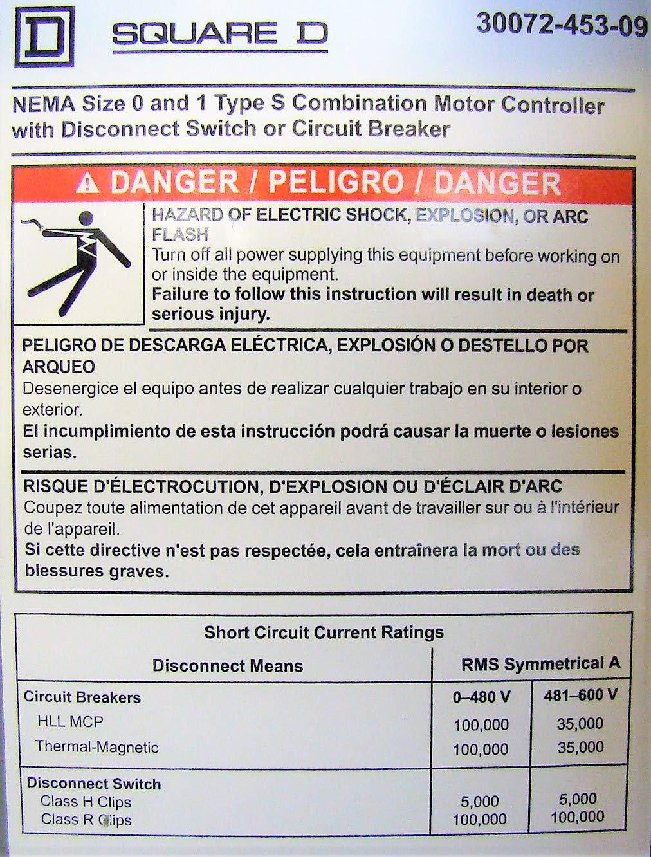 SCHNEIDER ELECTRIC 8538SBG13V81CFF4P1TX11 Combo Starter 600-Vac 18A on