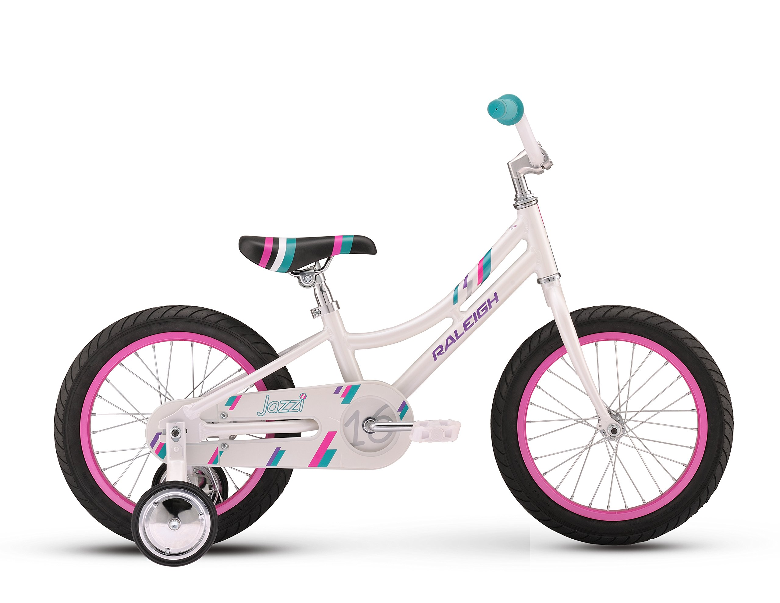 Raleigh Bikes Girls Jazzi 16 Bike, One Size, White by Raleigh Bikes