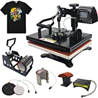 Domingo Petrucci Direct 12x15 Heat Press Machine Double Work Station 360 Degree Swivel Multifunction Sublimation Combo for Mug Hat Plate Cap T Shirt