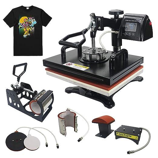 RoyalPress 12 pulgadas x 15 pulgadas prensa de calor 5 en 1 color ...