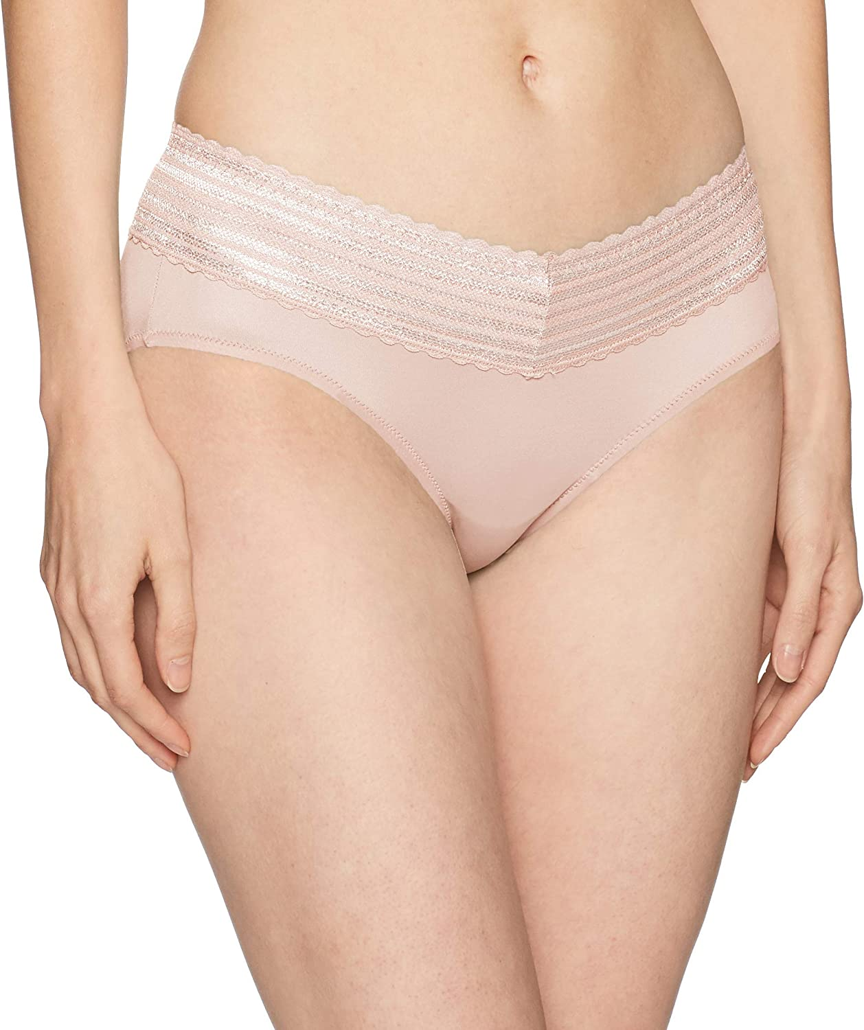 Warners Womens No Pinches Lace Hipster Panty Hipster Panties