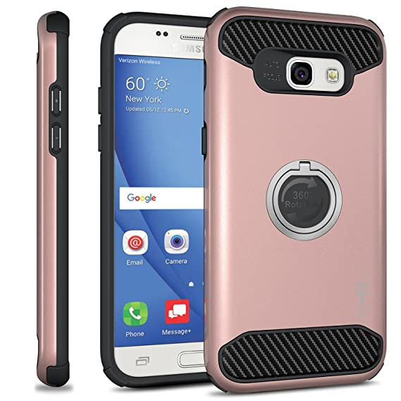 Galaxy A5 2017 Case, CoverON [RingCase Series] Modern Design Hard  Protective Hybrid Phone Cover with Grip Ring for Samsung Galaxy A5 (2017  Version)