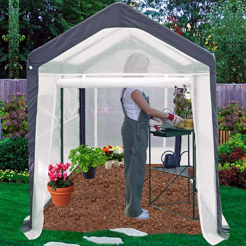 Global Company Spring Gardener Steel Gable Greenhouse