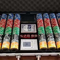 Amazon Com Da Vinci Set Of Of 750 Casino Del Sol 11 5 Gram Poker Chips With Case Cards Dealer Buttons And 2 Cut Cards Sports Outdoors