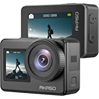 AKASO Brave 7 4K30FPS 20MP WiFi Action Camera with Touch Screen Vlog Camera EIS 2.0 Zoom Support External Mic Voice…