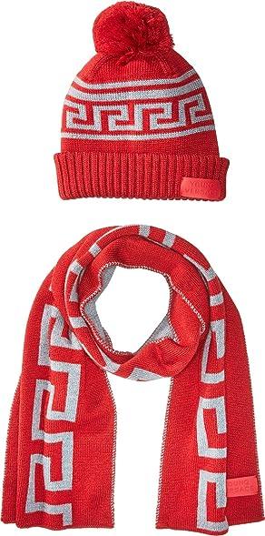2b7fead1563 promo code for hugo boss hugo logo beanie a9bbc bd1ff  france versace kids  baby boys greca hat scarf set toddler little kids red f8ec3 a3b27