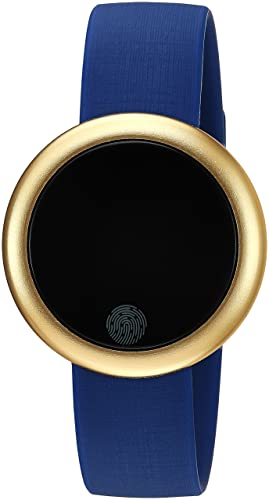eMotion Reloj Inteligente Unisex de Metal y Goma, Color Dorado, Azul (Modelo: