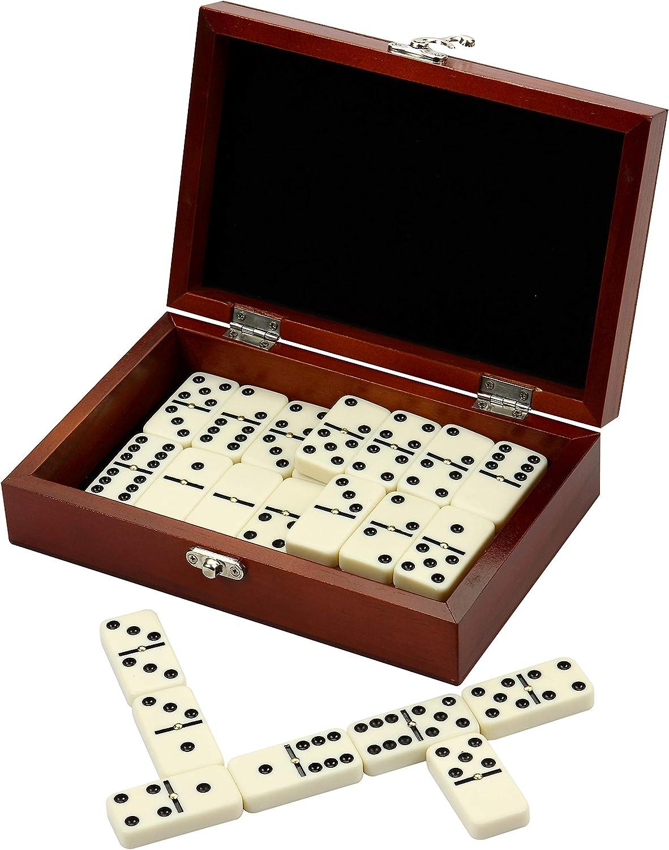 Walnut Hathaway Premium Domino Set w// Wooden Carry Case Premium Domino Set w// Wooden Carry Case