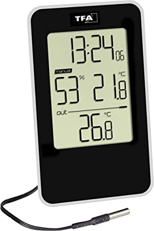 Thermometer Hygrometer Innen Außen Thermohygrometer Raum Feuchtigkeitsmesser