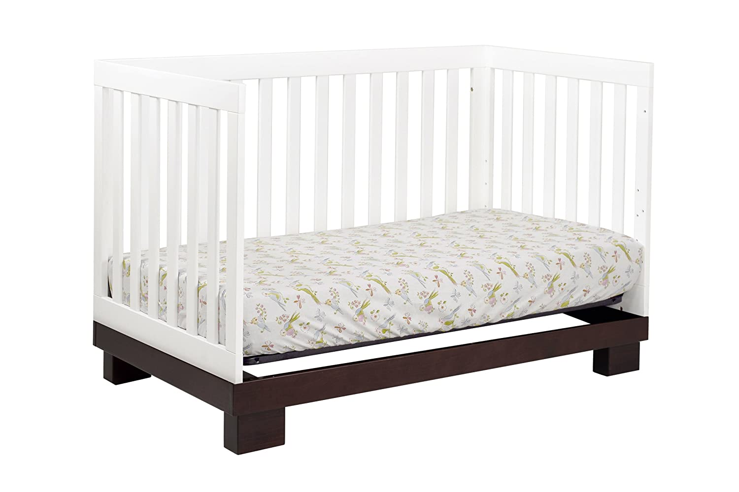 babyletto modo  in  crib with toddler rail espressowhite  - babyletto modo  in  crib with toddler rail espressowhite amazoncababy