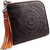 [パッカパッカ] pacca pacca 日本製 本革 薄型 財布 L字ファスナー ジッパー アラベスク