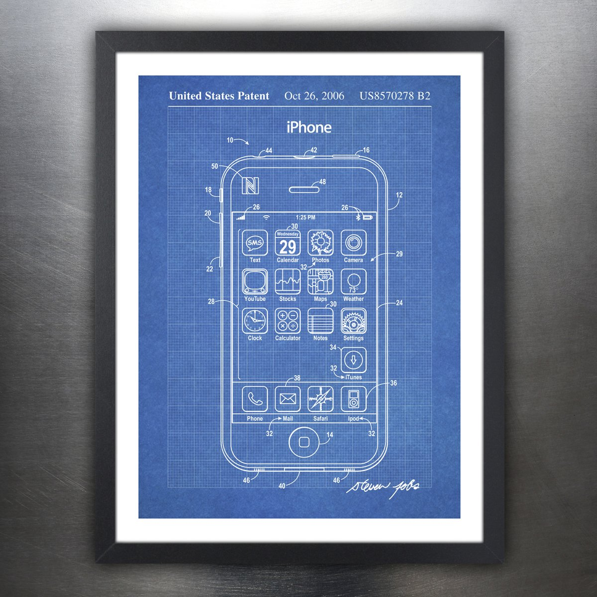 Amazon iphone invention poster 2006 patent art handmade amazon iphone invention poster 2006 patent art handmade gicle gallery print unframed 18x24blueprint posters prints malvernweather Choice Image