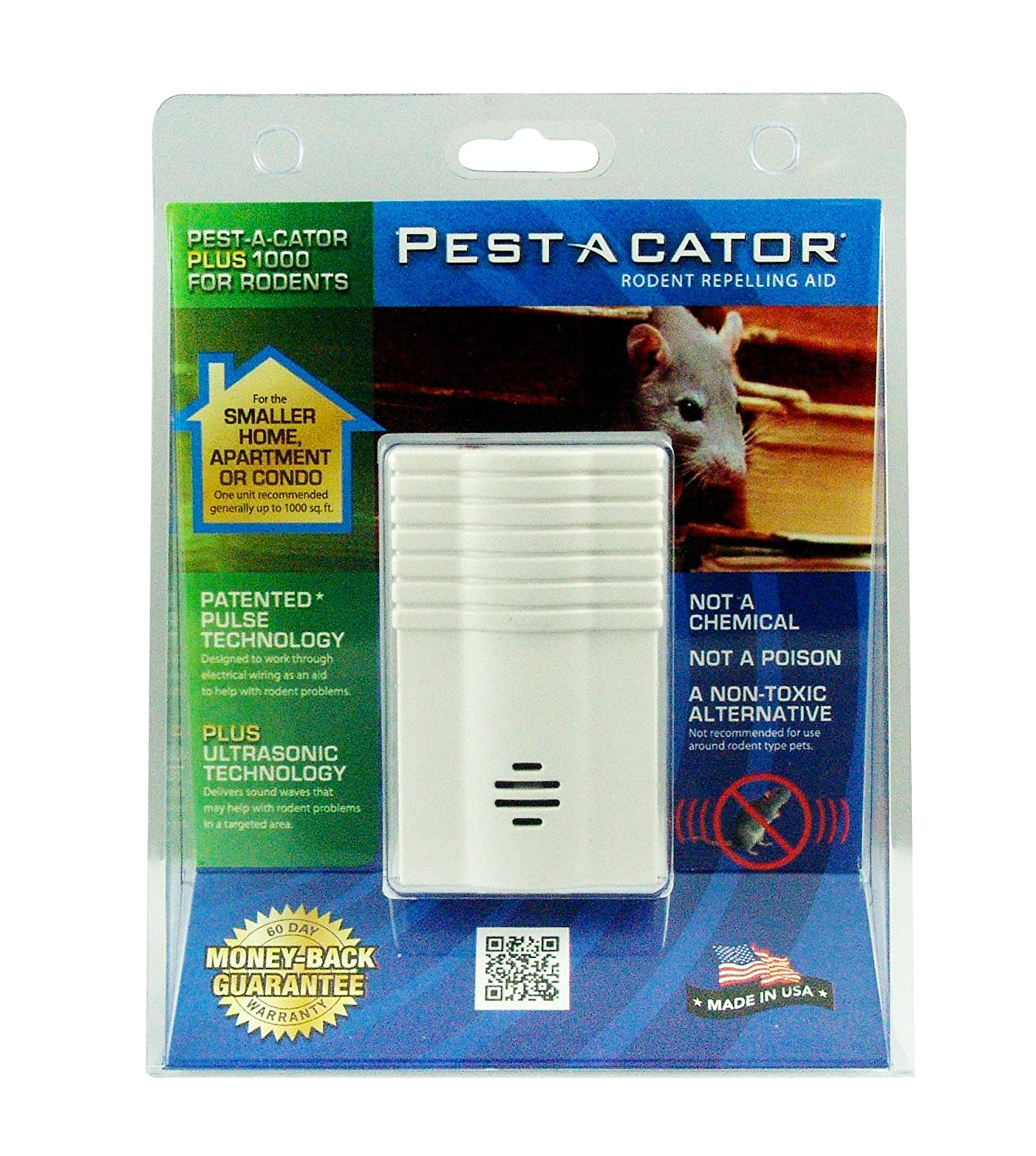 Global Instruments Rodent Repeller For Larger Areas Wiring Your Garage Pest A Cator Plus 2000 Electromagnetic Ultrasonic R Home Repellents Garden