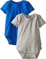 i play. Baby Short Sleeve Organic Adjustable Bodysuit (Pack of 2)