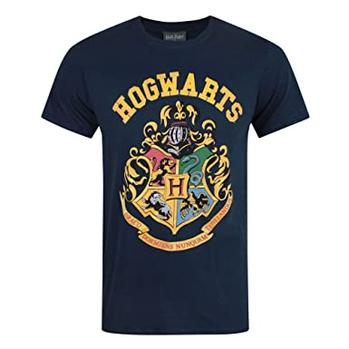 80e3ed3c Harry Potter Mens Assorted Printed T- Shirt Crest -Navy -Size - Small