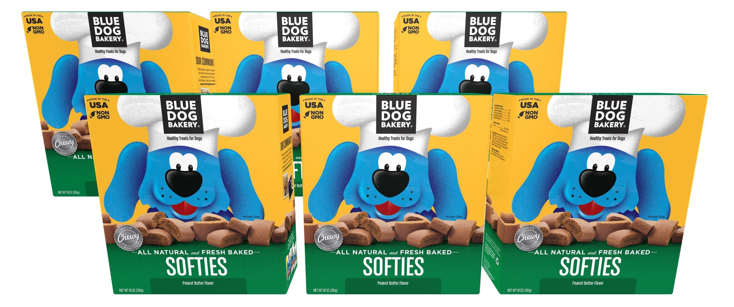 Blue Dog Bakery | Soft & Chewy Dog Treats | All-Natural | Peanut Butter
