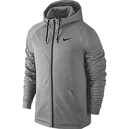 Nike Hoodie – Sudadera con Capucha para Hombre, tamaño Gris Grey Heather/Black