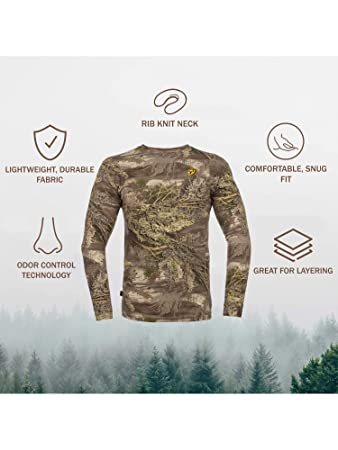 9085ca6c34cd0 Amazon.com: Scent Blocker Men's Long Sleeve Cotton T-Shirt: Scentblocker:  Clothing