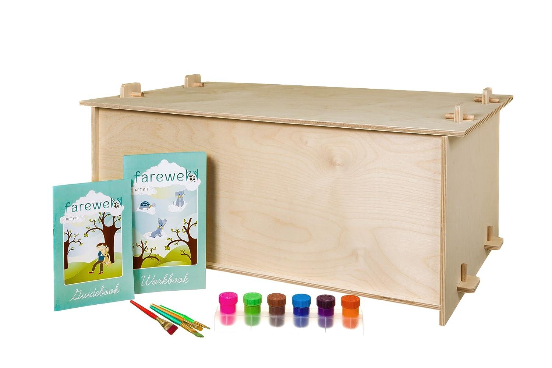 Farewell Pet Kit OSB00013 X Large Haustier-Denkmal-Kit mit sinnvollen Aktivitäten für Kinder und Erwachsene