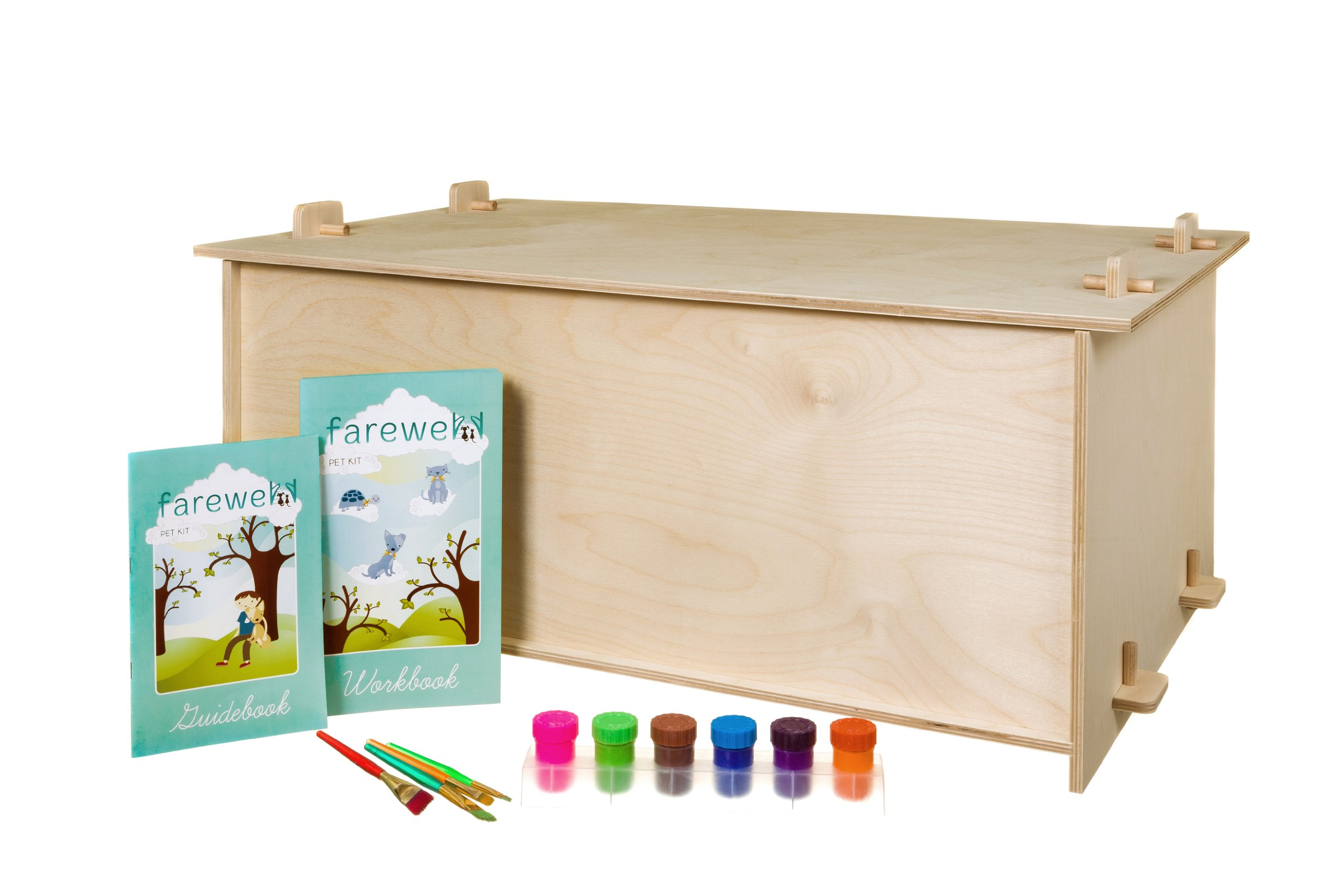 Farwellpetkit Pet Memorial Kit with Meaningful Activities, Includes Workbook, Guidebook, Box, Paints and Brushes, X-Large