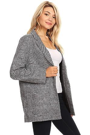 a900b1e7fff6 Ambiance Women's Button Down V-Neck Blazer Jacket at Amazon Women's  Clothing store: